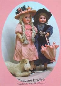 Dvě panenky s porcelánovou hlavou